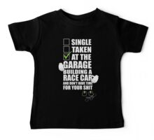 at the Garage building a Race Car Baby Tee