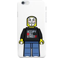 Anonymous Lego Style Protester Occupy All Streets iPhone Case/Skin