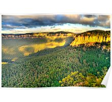 Light Rock - Blue Mountains World Heritage Area - The HDR Experience Poster