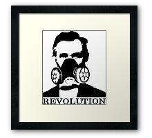 Revolution - Abraham Lincoln Gask Mask Framed Print