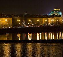 Nightscape from Charles Bridge # 1 (Prague) by ChrisHarvey67