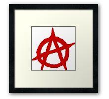 Anarchism Symbol Anarchist Red Framed Print