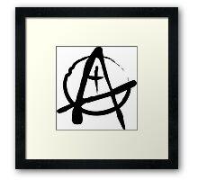 Anarchist Freehand Anarchy Symbol Framed Print