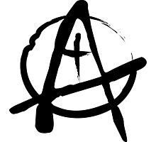 Anarchist Freehand Anarchy Symbol Photographic Print