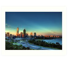 Perth HDR Art Print