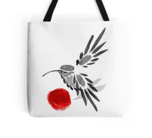 watercolor drawing bird, robin at white background, hand drawn vector illustration Tote Bag