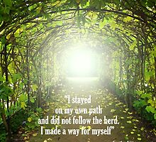 Follow your own Path by Charmiene Maxwell-batten