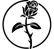 Black Rose of Solidarity. Anarchists Rose. Photographic Print