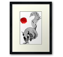 watercolor squirrel. Watercolor hand drawn brush vector  Framed Print