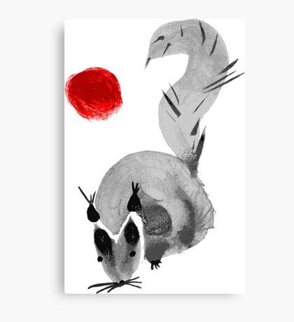 watercolor squirrel. Watercolor hand drawn brush vector  Canvas Print