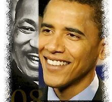 Barack Obama & MLK by Bobbi Miller-Moro