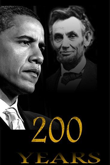 Barack Obama & Lincoln by Bobbi Miller-Moro