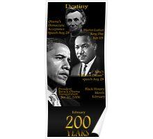"Destiny ""Obama-Lincoln-MLK"" Poster"