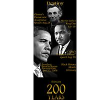 "Destiny ""Obama-Lincoln-MLK"" Photographic Print"