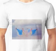 Break In The Clouds - The Red Arrows - Dunsfold 2014 Unisex T-Shirt