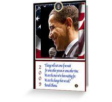 Barack Obama 44th President Greeting Card