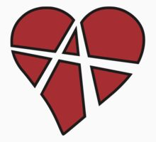 Anarchist Heart Red One Piece - Long Sleeve