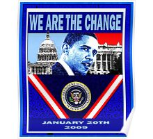 We Are The Change poster Poster