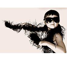 Black Boa Photographic Print