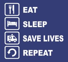 Eat Sleep Save Lives Paramedic Funny Shirt by movieshirtguy