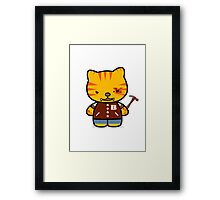 Hotline Kitty Tony Framed Print