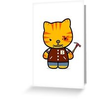 Hotline Kitty Tony Greeting Card