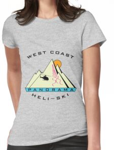 West Coast Panorama Heli-ski Womens Fitted T-Shirt