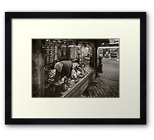 the tobacconist Framed Print