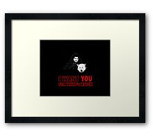 i want YOU for night's watch Framed Print