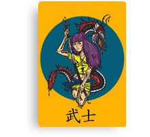 Lady Warrior Canvas Print