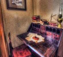 Old Antique Desk by Ian Mitchell