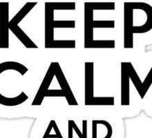 Keep Calm and Eat Pi Sticker