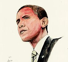 President Barak Obama by morgansartworld