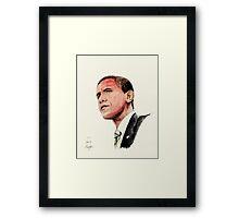 President Barak Obama Framed Print
