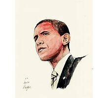 President Barak Obama Photographic Print
