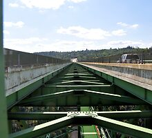 The Auburn Bridge at Foresthill: highest bridge in California (centre) by Lenny La Rue, IPA