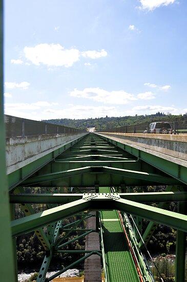 The Auburn Bridge at Foresthill: highest bridge in California (centre) by Lenny La Rue, IPA