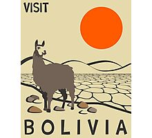 Bolivia Travel Poster Photographic Print