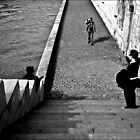 Embankment, the Seine, Paris. by Jeremiah