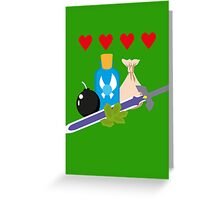 Legend of Zelda Items Greeting Card