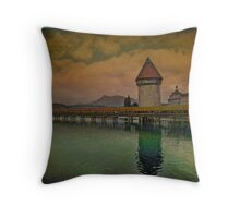 Bridge and Tower Throw Pillow