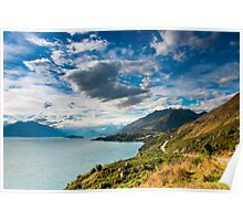 mountain scenery at lake pukaki Poster