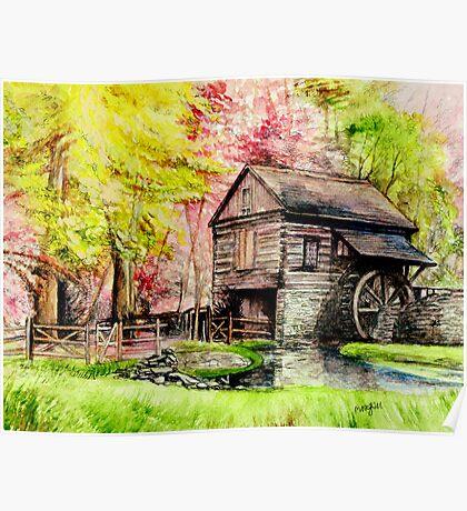 Watermill in Pensylvania Poster