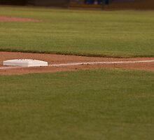 Third Base on a Well Groomed Infield,... It's Baseball Season!!! by Buckwhite