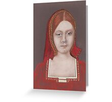 His First Victim (Catherine Of Aragon) Greeting Card