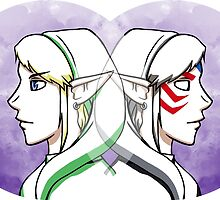 Link and Fierce Deity Link  by CornyMistick