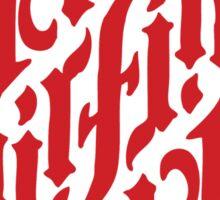 Earth, Air, Fire, Water - Ambigram Sticker