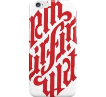 Earth, Air, Fire, Water - Ambigram iPhone Case/Skin