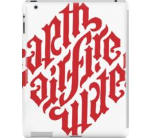 Earth, Air, Fire, Water - Ambigram iPad Case/Skin