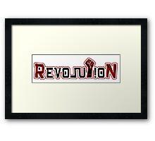 Revolution Fist Framed Print